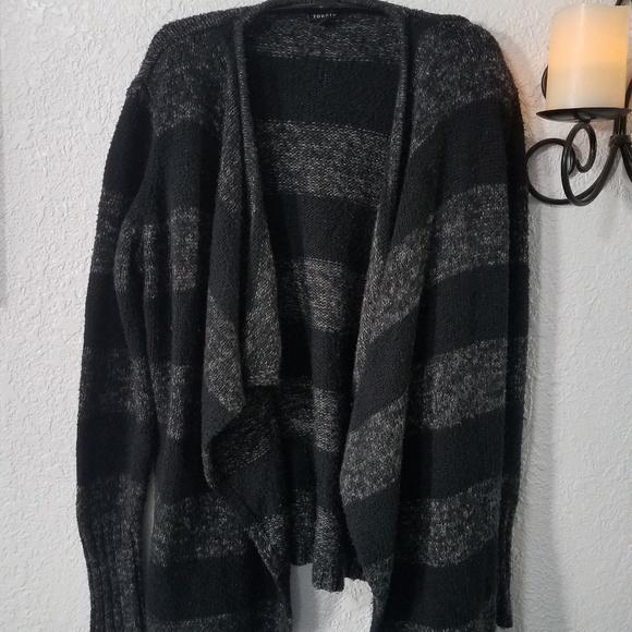 Torrid Sweaters - Torrid black and gray shrug